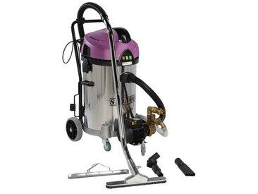 Aspirateur eau et poussières inox à décolmatage et pompe de refoulement 2x1200 w 78 l
