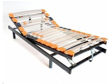 Sommier de relaxation manuel en bois à lattes Civelle 90 x 190 cm