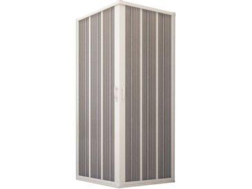Porte de douche d'angle en PVC 100x100CM H185 avec Ouverture Centrale couleure Blanche mod. Flex