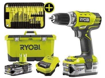 Perceuse Visseuse 18v RYOBI RCD18LL99T 2 Batteries Lithium Ion 1.5 ah + 4.0 Ah + 17 accessoires