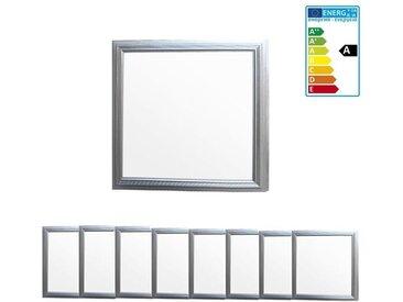 ECD Germany 8 x Ultraslim mince panneau LED 12W 30x30 cm SMD 3014 blanc neutre 4000K 220-240 V environ 760 lumens Plafonnier encastré