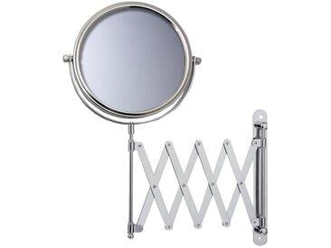 Miroir Grossissant (X5) Mural Rond extensible - Chrome -Diamètre: 17 cm