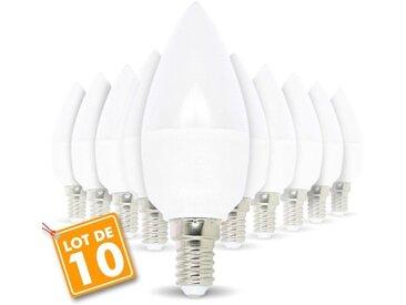 Lot de 10 ampoules E14 5.5W eq 40W | Blanc chaud 3000K