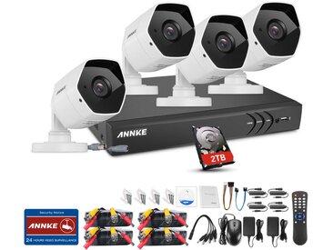 Annke Kit caméra de surveillance filaire 8CH 5 en 1 DVR 3MP enregistreur + 4 caméra HD 3MP Extérieur vision nocture 20m – avec 4 caméra bullet+ disque dur 2 TB