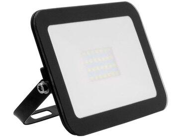 Projecteur LED Extra-Plat Crystal 20W Noir Blanc Neutre 4000K - 4500K