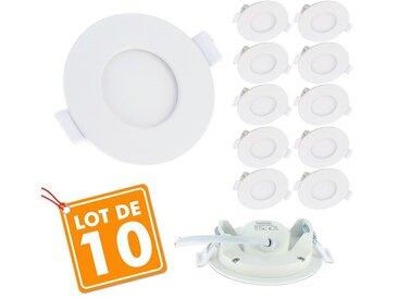Lot de 10 Spots Encastrables LED Panel Extra-Plat 3W | Température de Couleur: Blanc neutre 4000K