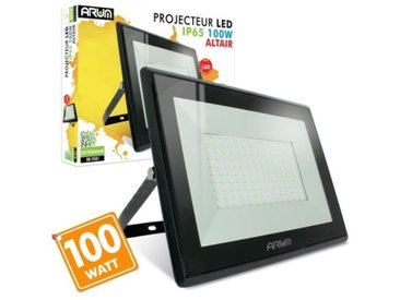 Projecteur LED 100W 8500 Lumens IP65 | Température de Couleur: Blanc chaud 3000K