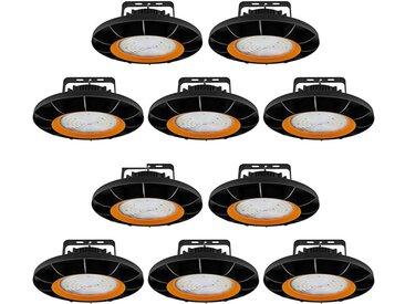 10×Anten 150W UFO Projecteur LED Dimmable Projecteur LED d'éclairage Industriel Suspension IP65 Phare de Travail Spot Lumière Éxtérieur et Indérieur Blanc Froid 6000K (Variateur non compris)