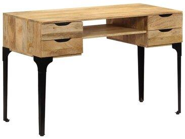 Hommoo Table à écrire Bois de manguier massif 120 x 50 x 76 cm