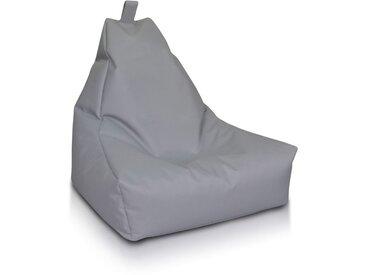 BEANBAG / POUF Keiho S - ECO-CUIR moderne | gris clair