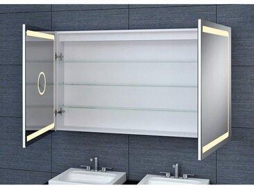 Armoire de toilette aluminium - Modèle JA 120 - 70 cm x 120 cm (HxL)