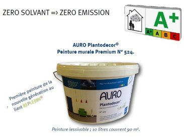 Auro - Peinture murale Premium Plantodecor® (nouvelle génération) 1 litre - N° 524