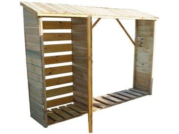 Abri bûches en bois + Armoire