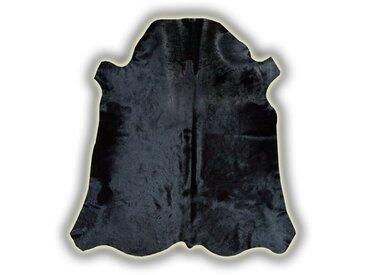 Peau de vache avec imprimé taureau Cuenca Noir 210x200 - Noir