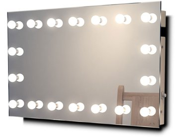 Miroir Maquillage Diamond X Mural Hollywood Audio avec LED Blanc Chaud k413WWaud - Couleur LED : Ampoules LED blanches chaudes
