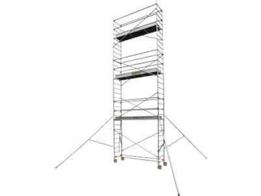 Echafaudage roulant aluminium - Longueur 2m55 - STL 255 5, plancher 4m90