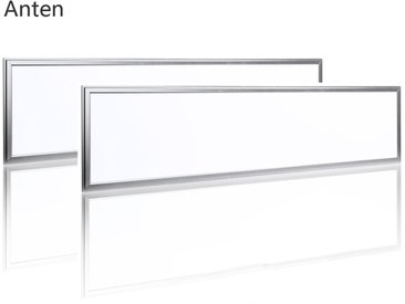 2×Anten 40W Dalled LED 120×30CM Dalle Lumineuse LED pour Plafond Blanc Naturel 4000K