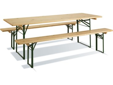 Set table et bancs Brasseur | 220 x 80 cm
