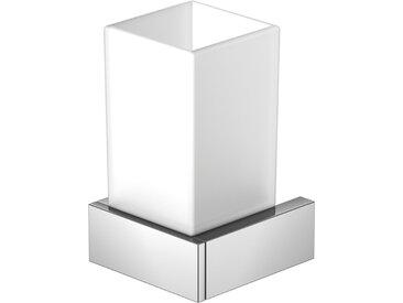 Steinberg Série 460 porte-verre chromé avec verre blanc satiné - 4602001
