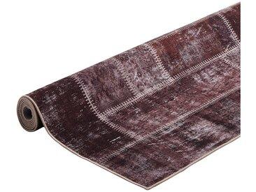 Tapis patchwork de salon ethnique Novare Marron 120x180