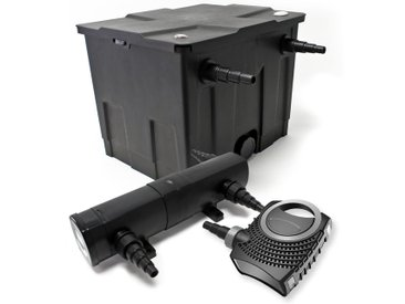 Kit de Filtration de Bassin Bio 12000l 80W Pompe Super éco Stérilisateur UVC 18W