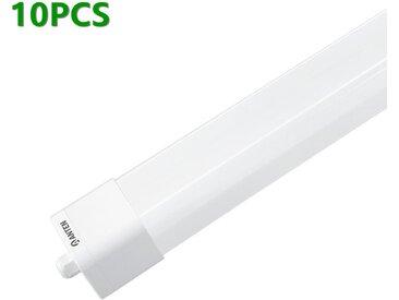 10X ANTEN Réglette Tube LED 0.6m 18W 4000K 1800LM Blanc Nature Luminaire d'intérieur