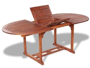 Table de Jardin Bois d'Acacia Massif 200x100x74 cm