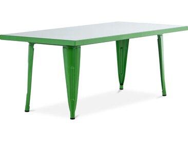 Table pour enfant de style Tolix - 120 cm - Métal Vert