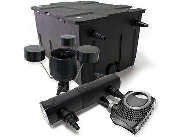 Kit de Filtration de Bassin Bio Filtre 60000l Stérilisateur UVC 36W 80W Pompe éco Ecumeur