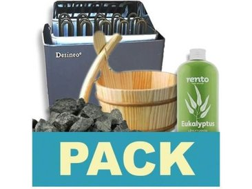Pack sauna 9kw avec accessoires