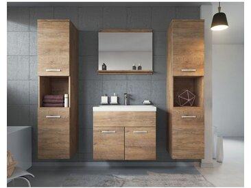 Meuble de salle de bain Montreal xl 60 cm lavabo Lefkas - Armoire de rangement Meuble lavabo evier Meubles