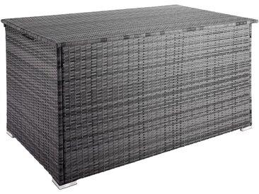 Coffre de Jardin de Rangement extérieur 950 L en Résine tressée et Aluminium Gris