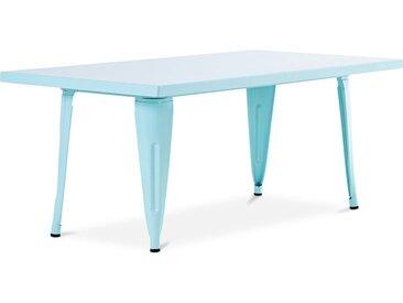 Table pour enfant de style Tolix - 120 cm - Métal Aquamarine