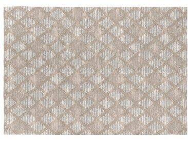 Tapis scandinave gris en coton plat Hallie Gris 200x290