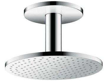 Hansgrohe AXOR ShowerSolutions 250 Pomme de douche suspendue 2 jets, raccordement au plafond, Coloris: chrome - 35297000