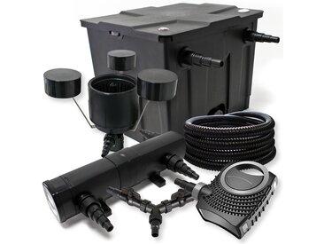 Kit filtration de bassin 12000l 24W Stérilisateur NEO8000 70W Pompe 25m Tuyau Skimmer CSP250