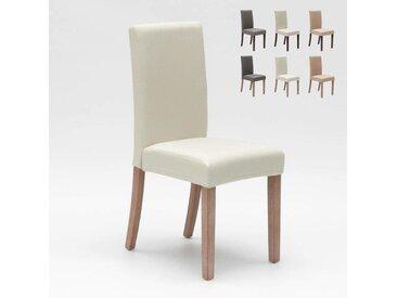 Chaise rembourrée style henriksdal pour cuisine salle à manger COMFORT | Shabby Blanc