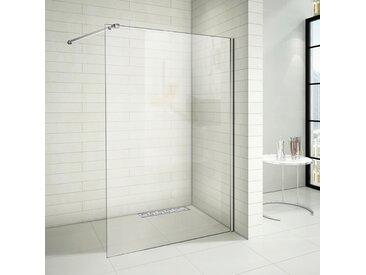 Paroi de douche 140x200cm paroi de douche à l'italienne avec le caniveau de douche 90cm en inox