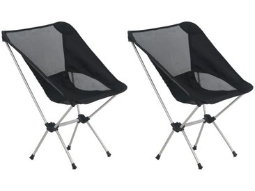 Hommoo Chaises de camping pliables et sac 2 pcs 54x50x65 cm Aluminium