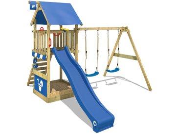 Aire de jeux WICKEY Smart Shelter avec toboggan, bac à sable et balançoire blue
