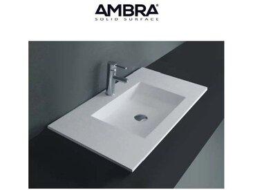 Plan vasque intégrée 90cm en Solid surface - Lilia