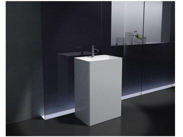 Lavabo colonne totem PB2022- 60 x 42 x 90cm - blanc - Solid Stone