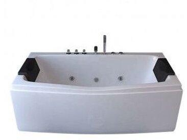 Baignoire balneo rectangulaire 170x75 hydromassante blanche