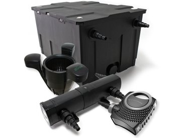 Kit de Filtration de Bassin Bio Filtre 60000l Stérilisateur UVC 24W 80W Pompe éco Ecumeur