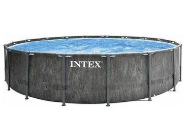 Piscine tubulaire ronde Baltik 4,57 x 1,22 m - Gris - Intex