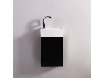 Pack Essento blanc gauche + Meuble Lave main Noir Dark Contenu du pack - 1636-defaultCombination