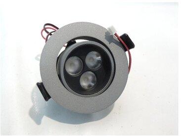 Spot LED 3.6W 85mm gris alu blanc chaud 3000K alim 24V 350mA (non fournie) faisceau 35° 174lm IP20 D-COLED THORN 96107433