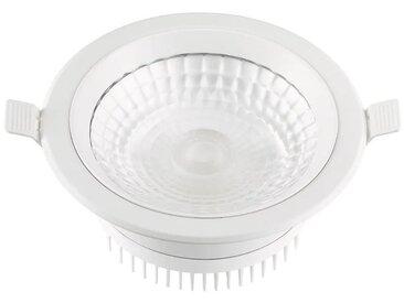 Encastré LED 12W BBC Ø 175mm blanc downlight fixe COB 4000K 1100lm 230V non-dimmable 90° IP44 IK08 THUNDER TRAJECTOIRE 003762