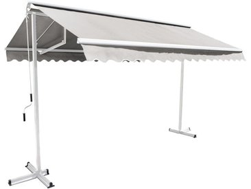 Store double pente avec coffre 3 x 3 m Trinidad - Ecru - Ecru