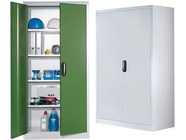 CP Armoire à portes battantes, h x l 1950 x 930 mm - profondeur 500 mm - coloris portes gris - Col. tablette: galvanisé|Col. portes: Gris